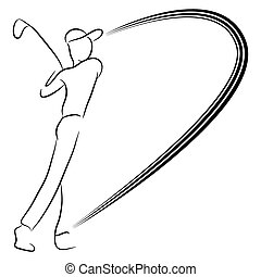 Playing Golf - An image of a man playing golf.