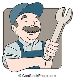 Repairman Cartoon - An image of a repairman cartoon.
