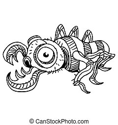 Creep Insect - An image of a creepy termite insect.