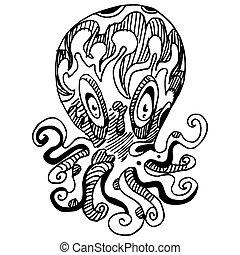 Wierd Octopus - An image of a wierd octopus.