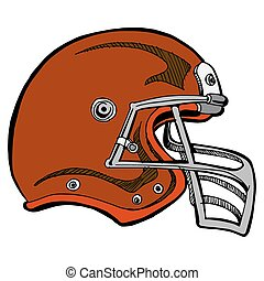 Football Helmet - An image of a football helmet.