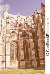 Retro looking St Margaret Church in London - Vintage looking...