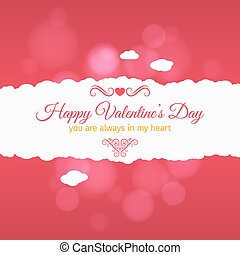 valentines day card vector background