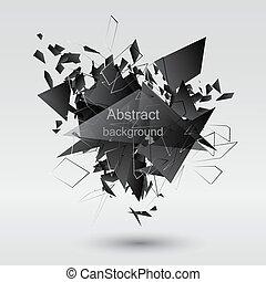 Abstract black explosion. Vector illustration