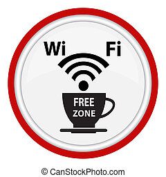 Free wifi cybercafe poster