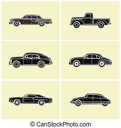 Retro car vector illustration - retro car