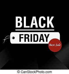 Black friday background with text and icons