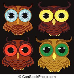 isolated owl vector illustration