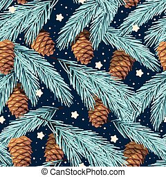 Seamless spruce branches
