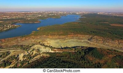 AERIAL VIEW. Simferopol Crushed Stone Quarry - AERIAL VIEW....