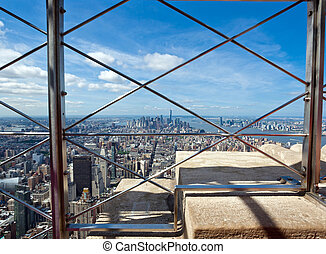 View of Manhattan from the Empire State Building - View of...