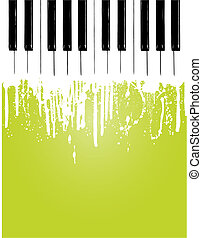 Piano flow - Grunge piano flowing... with copy space