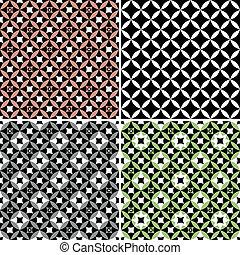 Set geometric seamless patterns (