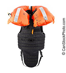 Bulletproof vest, with hood with life jackets, bulletproof...
