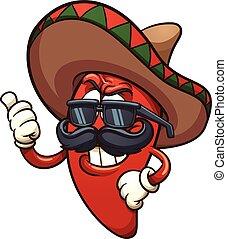 Chili Pepper - Cool Mexican chili pepper. Vector clip art...