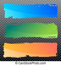 Collection of vector abstract grunge banners