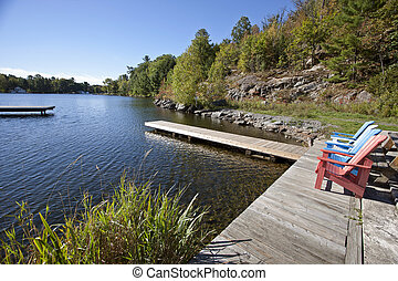 Port Carling Muskoka Canada lake and docks