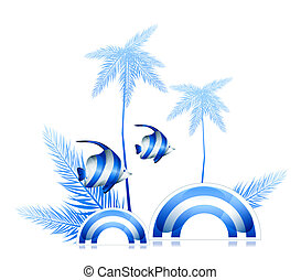 palm and fish