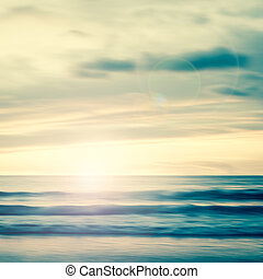 An abstract seascape with blurred panning motion background...