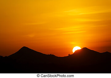 Sunset - Beautiful sunset somewhere in Southern Luzon,...