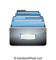 Vector File Cabinet with Documents - Metal filling cabinet...