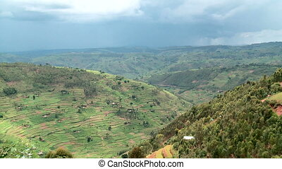 rolling hills in east africa