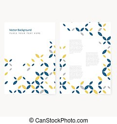 Abstract template flyer - Abstract template color flyer with...