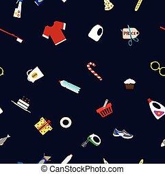 shoping, begrepp, bakgrund, berätta