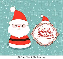 Merry Christmas with santa claus illustrations