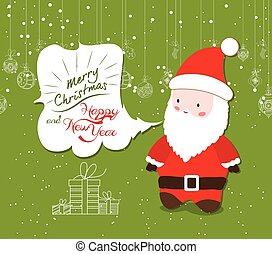Merry Christmas with snowman illustrations greeting card