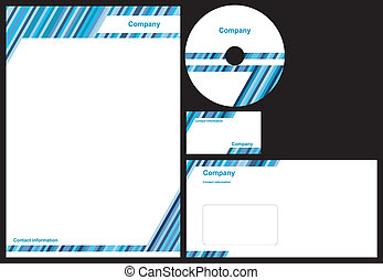 Corporate identity package with business card, letterhead,...