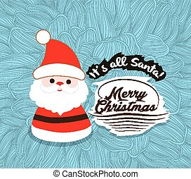 Santa Merry christmas Flower sketch background