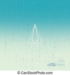 Abstract neat Blurred Background Hipster Geometric shape,...