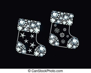 Diamond Christmas Socks - Christmas Socks Made of Shiny...