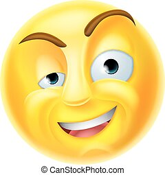 Charming Emoji Emoticon - A charming emoji emoticon smiley...