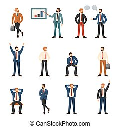 Group of business and office people - Cartoon character set...