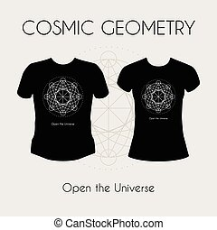 Cosmic Geometry T-Shirt - Cosmic Geometry. t-shirt template...