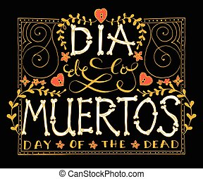 Day of the dead vector illustration set Hand sketched...