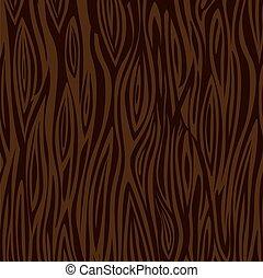 Wood texture background - dark brown. Vector stock.