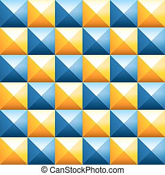 Colorful pyramids seamless vector pattern - Abstract...