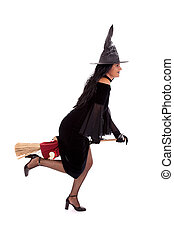 Halloween witch isolated on white
