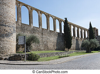 old aquaduct evora - Aqueduct in evora portugal, this is 500...