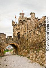 Templar castle Ponferrada - Templar castle in Ponferrada,...