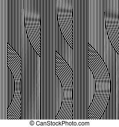 Line Black White Retro Background