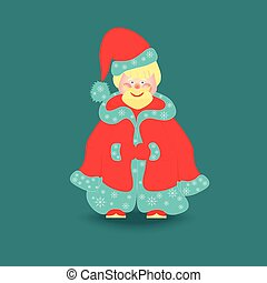 Little Santa Claus Isolated - Cute Santa Claus in Christmas...