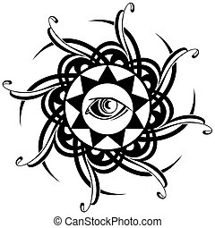 Tattoo Eye - Abstract decorative vector eye