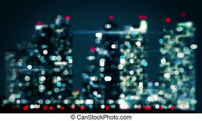 bicolor blurred lights of nigh city