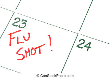 Flu Shot - A calendar reminder for a Flu Shot