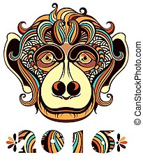 Vector illustration of a monkey