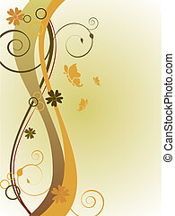 floral background - vector illustration of floral elements...